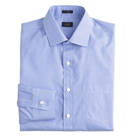 J.Crew Crosby Dress Shirt In Blue Microgingham