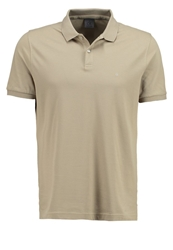 Ck Calvin Klein Pete Fitted Polo Shirt Cappuccino Light Brown