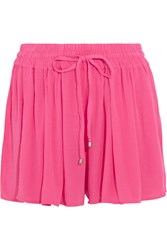 Splendid Crinkled Gauze Shorts Pink