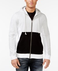 Inc International Concepts Colorblocked Zip Front Hoodie Only At Macy's Cloud Grey Heather