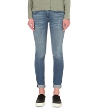 Current Elliott The Rolled Skinny Mid Rise Jeans Detention