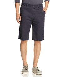 Vince Cotton Linen Trouser Shorts Navy