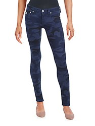 True Religion Camo Five Pocket Skinny Jeans Dark Navy
