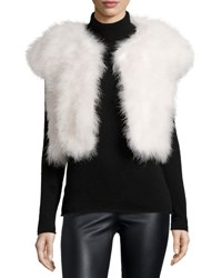 Jocelyn Marabou Feather Shrug Ivory