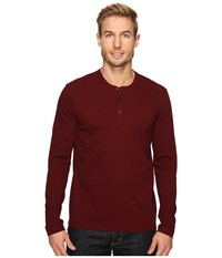 Kenneth Cole Honeycomb Henley Malbec Men's Clothing Purple