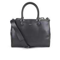 Paul Smith Accessories Women's Leather Large Double Zip Tote Black