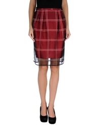 Max And Co. Knee Length Skirts Brick Red
