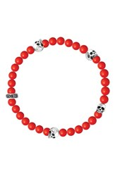 King Baby Studio Men's Coral Bead Bracelet