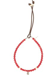 Catherine Michiels Mini Drop Bracelet Red