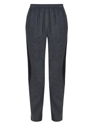 Kenzo Satin Stripe Cotton Twill Trousers