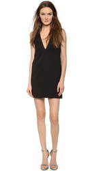 Ad Loose Deep V Mini Dress Black