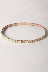 Anthropologie Skinny Tab Belt Gold