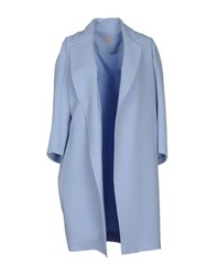 Dice Kayek Coats And Jackets Full Length Jackets Women Sky Blue