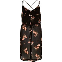River Island Womens Black Print Strappy Cami Tunic
