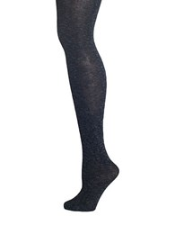 Lemon Silver Lining Slub Tights Black
