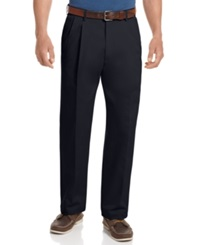 Haggar Big And Tall Pants Work To Weekend Pleated Pants Black