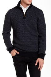 Barbour Hines Half Zip Navy Sweater Blue