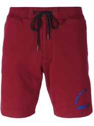 Marc By Marc Jacobs Logo Track Shorts Red