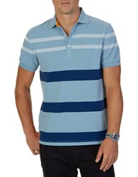 Nautica Short Sleeve Cotton Polo Anchor Blue