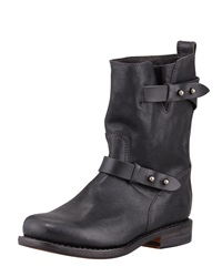 Rag And Bone Rag And Bone Moto Leather Boot Black Cont Black 41.0B 11.0B