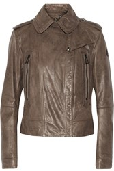 Belstaff Stotford Leather Biker Jacket Nude