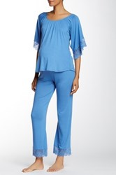 Belabumbum Tallulah Maternity Tunic And Pant Set Blue