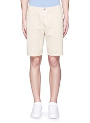 Scotch And Soda Garment Dyed Cotton Shorts Neutral