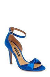 Women's Kay Unger 'Conyer' Satin Sandal Royal Blue Satin