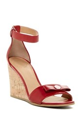 Marc By Marc Jacobs Logo Disc Wedge Sandal Red