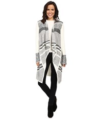 Nydj Hybrid Fair Isle Car Coat Vanilla Women's Coat Bone