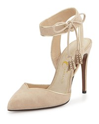Valentina Carrano Louise Ankle Cuff D'orsay Pump Sand Gold