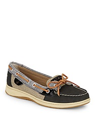 Sperry Angelfish Leather Boat Shoes Black