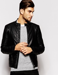 United Colors Of Benetton Faux Leather Jacket Black100