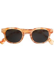 See Concept Square Shaped Sunglasses Yellow And Orange