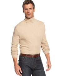 John Ashford Long Sleeve Turtleneck Interlock Shirt Toast Heather