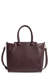 Sole Society 'Jeanine' Satchel Purple Wine
