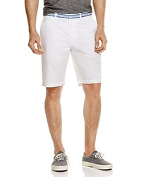 Original Penguin Slim Fit Shorts With Stripe Waistband 100 Bloomingdale's Exclusive Bright White