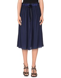 Attic And Barn Attic And Barn Skirts 3 4 Length Skirts Women Dark Blue