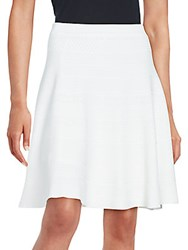 Saks Fifth Avenue Black Flared A Line Skirt White Star