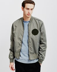 Cheap Monday Rank Patch Bomber Jacket Green