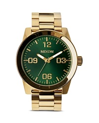 Nixon The Corporal Sunray Dial Watch 48Mm Green Sunray