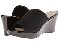 Adrienne Vittadini Caterena Black Patent Stretch Women's Wedge Shoes