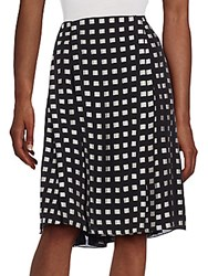 Proenza Schouler Pleated Silk Blend Skirt Black White