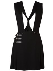 Mcq By Alexander Mcqueen Pinaford Kilt Effect Dungarees Black