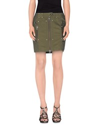 Edun Skirts Mini Skirts Women Military Green