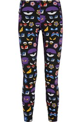 Fendi Printed Stretch Jersey Leggings Purple