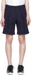 Carven Navy Crepe Shorts