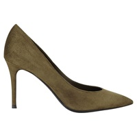 Jigsaw Natalya Suede Pointed Court Shoes Khaki