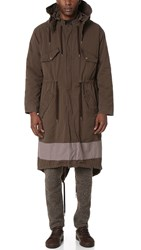 Robert Geller The Vincent Hooded Parka Charcoal Grey