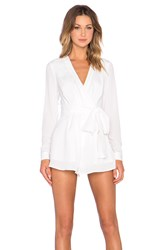 The Fifth Label The High Road Long Sleeve Playsuit White